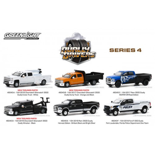 Greenlight Dually Drivers Series 4 - Six Truck Set