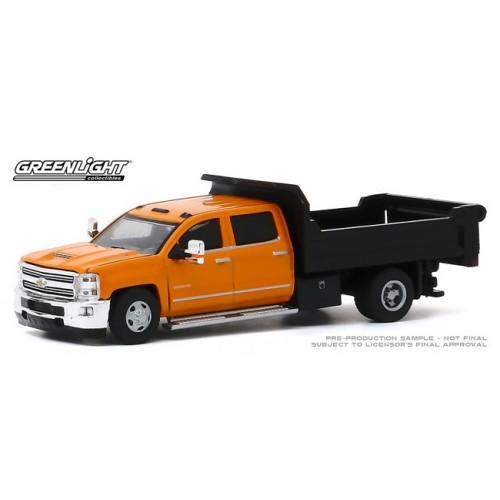 Greenlight Dually Drivers Series 4 - 2017 Chevrolet Silverado 3500 Dually Dump Truck