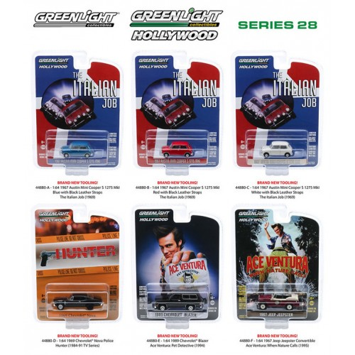 Greenlight Hollywood Series 28 - Six Car Set