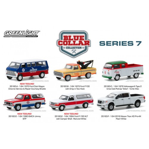 Greenlight Blue Collar Series 7 - Six Truck Set