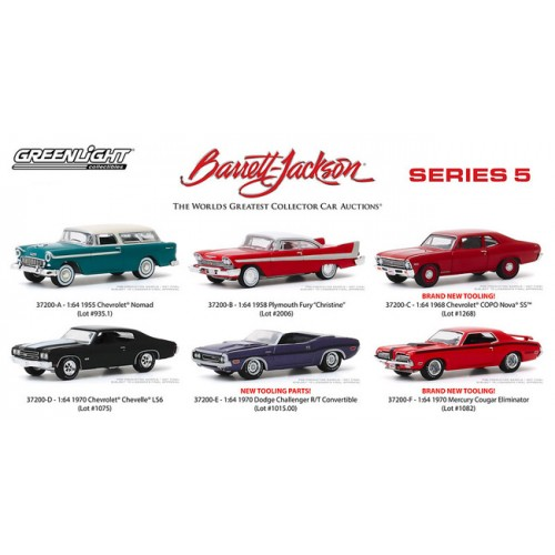 Greenlight Barrett-Jackson Series 5 - Six Car Set