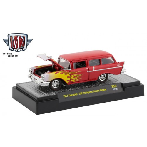 M2 Machines Auto-Thentics Release 59 - 1957 Chevrolet 150 Handyman Station Wagon