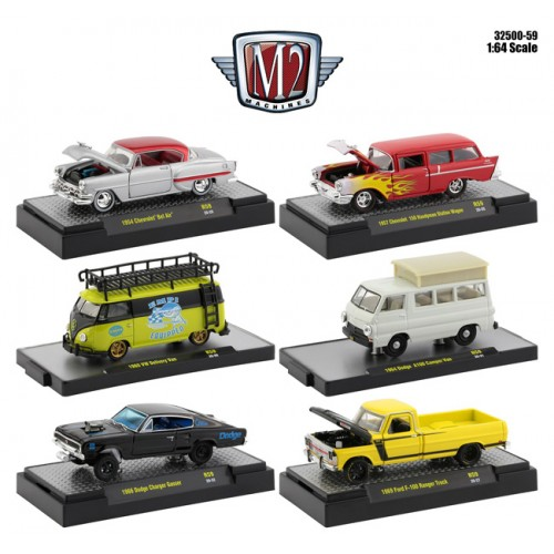 M2 Machines Auto-Thentics Release 59 - Six Car Set