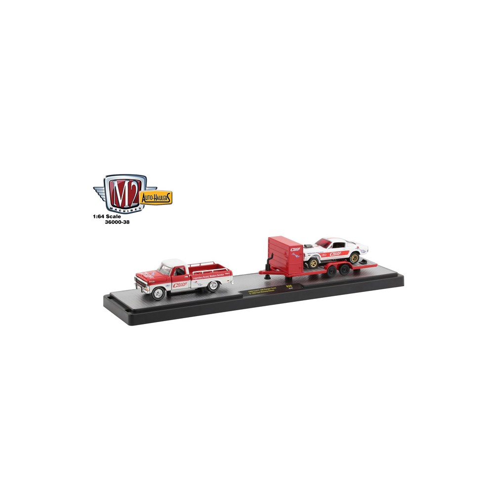 M2 Machines Auto-Haulers Release 38 - 1969 Ford F-100 Ranger with 1966 Ford Mustang