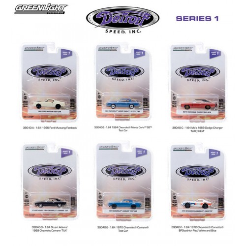 Greenlight Detroit Speed Series 1 - Six Car Set