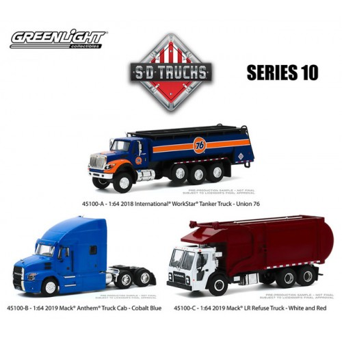 Greenlight S.D. Trucks Series 10 - Three Truck Set