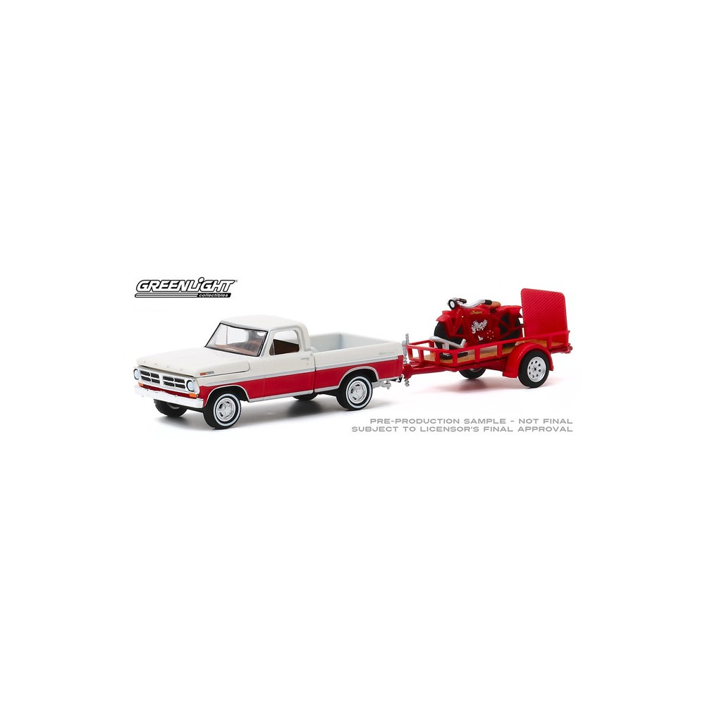 Greenlight Hitch and Tow Series 20 - 1972 Ford F-100 with Utility Trailer
