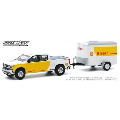 Greenlight Hitch and Tow Series 20 - 2019 Chevrolet Silverado and Small Cargo Trailer