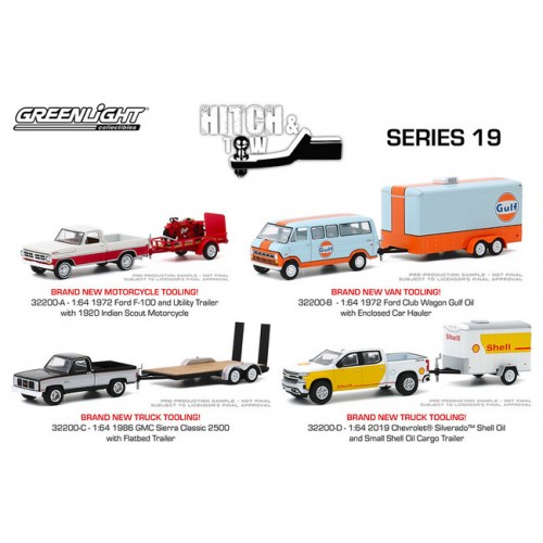 Greenlight Hitch and Tow Series 20 - Four Truck Set