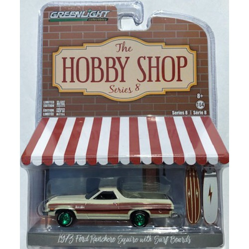 Greenlight The Hobby Shop Series 8 - 1973 Ford Ranchero Squire Green Machine