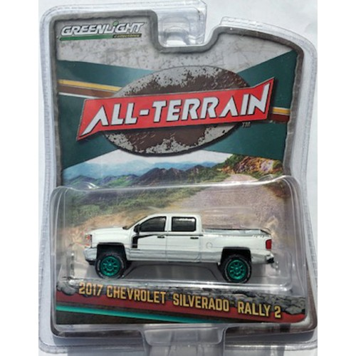 Greenlight All-Terrain Series 8 - 2017 Chevrolet Silverado Rally 2 GREEN MACHINE