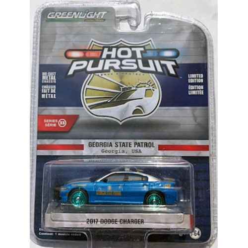 Greenlight Hot Pursuit Series 33 - 2017 Dodge Charger GREEN MACHINE