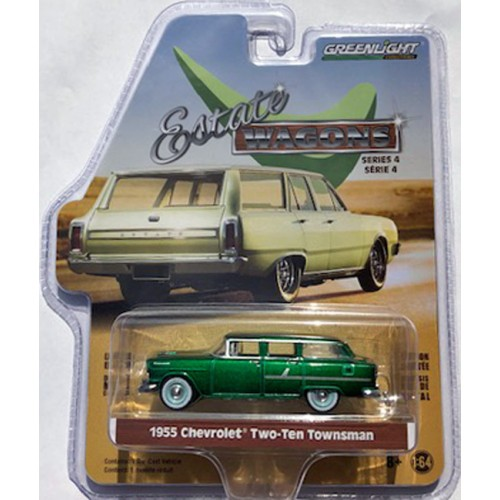 Greenlight Estate Wagons Series 4 - 1955 Chevrolet Two-Ten Townsman GREEN MACHINE