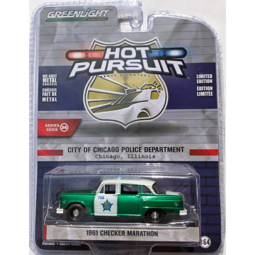 Greenlight Hot Pursuit Series 34 - 1961 Checker Marathon GREEN MACHINE