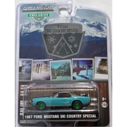Greenlight Hobby Exclusive - 1967 Ford Mustang Ski Country Special GREEN MACHINE
