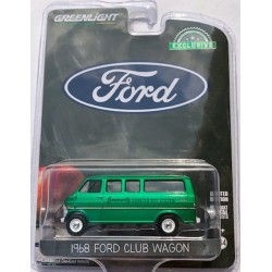 Greenlight Hobby Exclusive - 1968 Ford Club Wagon GREEN MACHINE