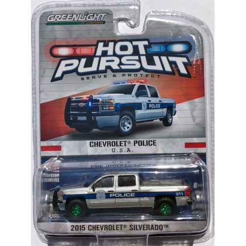 Greenlight Hot Pursuit Series 17 - 2015 Chevrolet Silverado GREEN MACHINE