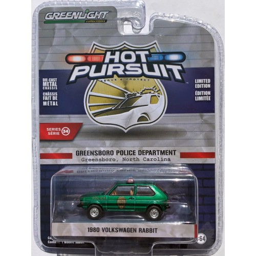 Greenlight Hot Pursuit Series 34 - 1980 Volkswagen Rabbit GREEN MACHINE