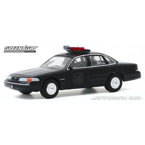 Greenlight Black Bandit Series 23 - 1992 Ford Crown Victoria Police Interceptor
