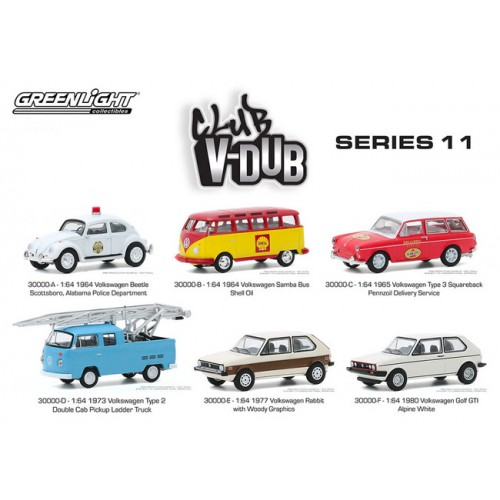 Greenlight Club Vee-Dub Series 11 - Six Car Set