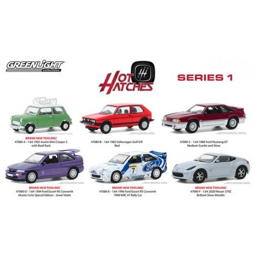 Greenlight Hot Hatches Series 1 - Six Car Set