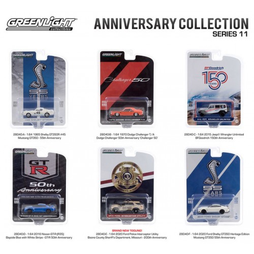 Greenlight Anniversary Collection Series 11 - Six Car Set