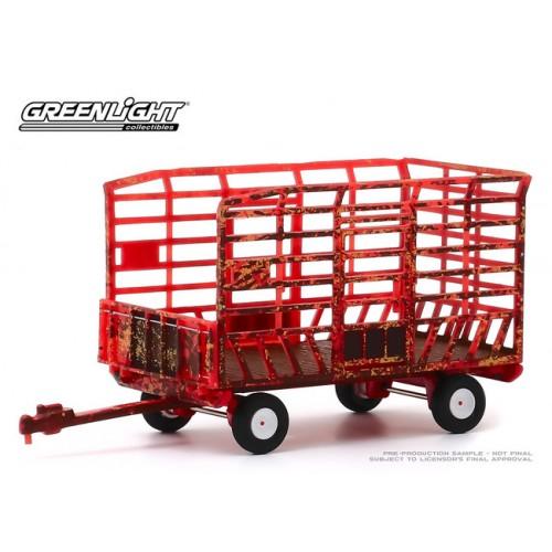 Greenlight Down on the Farm Series 4 - Bale Throw Wagon Weathered
