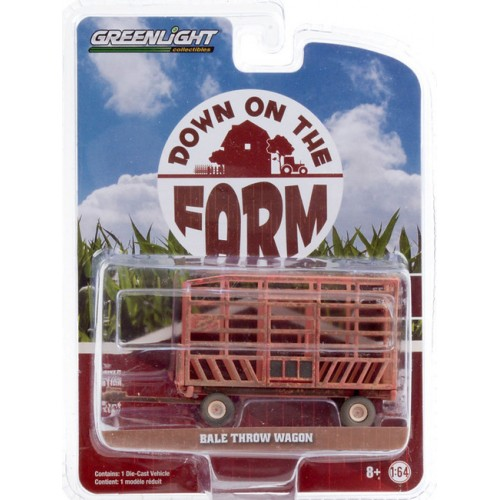 Greenlight Down on the Farm Series 4 - Bale Throw Wagon Weathered