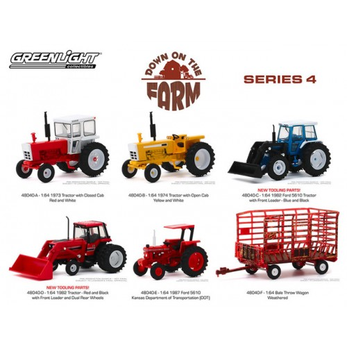 Greenlight Down on the Farm Series 4 - Six Tractor Set