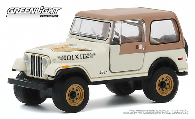 Greenlight Hobby Shop 1974 Jeep CJ-5 With Vintage Gas Pump NG13
