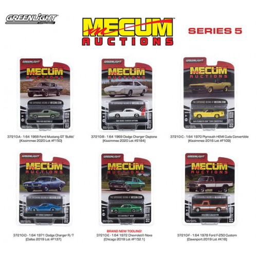 Greenlight Mecum Auctions Series 5 - Six Car Set