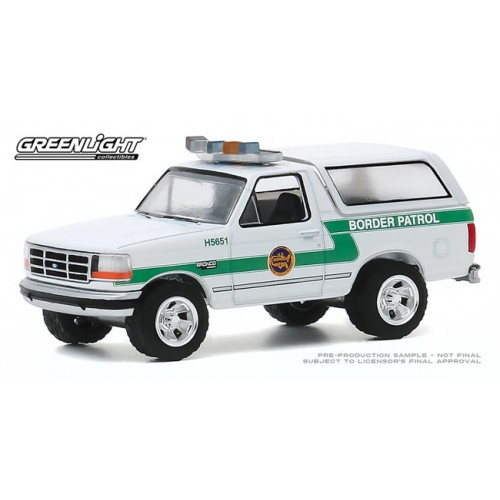 Greenlight Hot Pursuit Series 35 - 1993 Ford Bronco US Customs and Border Patrol