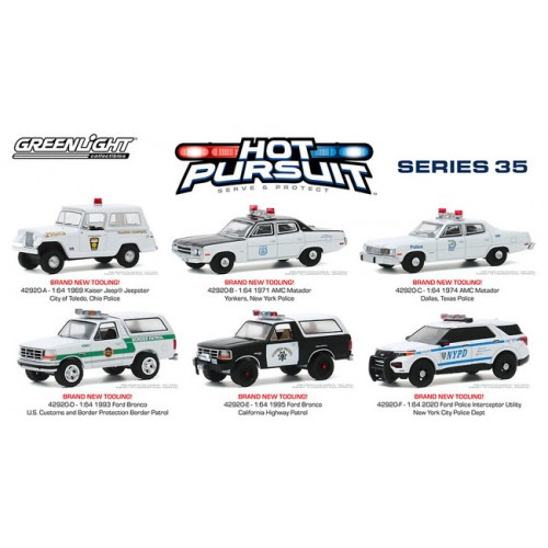 Greenlight Hot Pursuit Series 35 - Six Car Set
