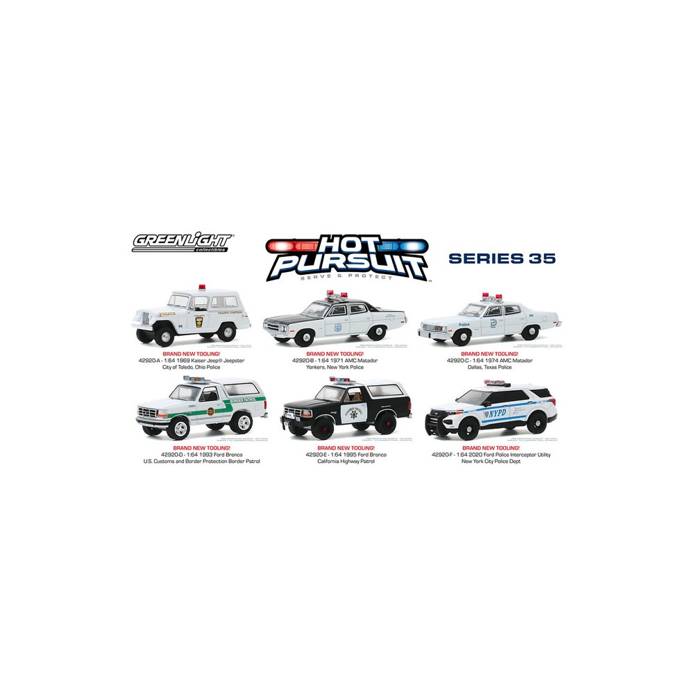 Greenlight Hot Pursuit Series 35 - Six Car Set