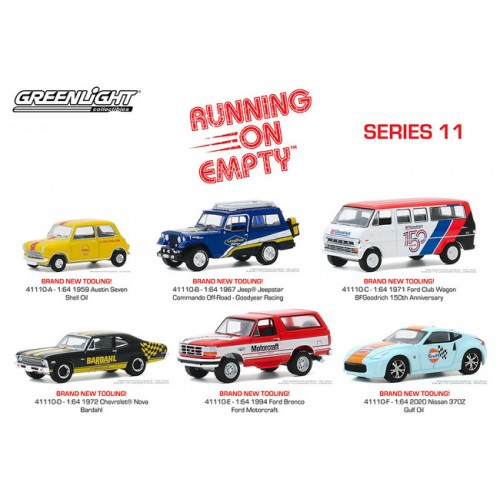 Greenlight Running on Empty Series 11 - Six Car Set
