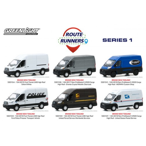 Greenlight Route Runners Series 1 - Six Truck Set