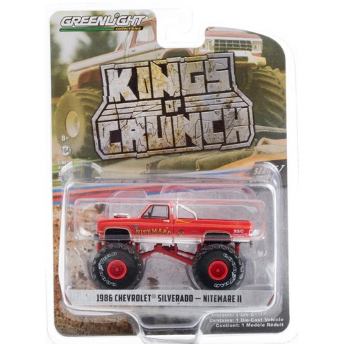 Greenlight Kings of Crunch Series 7 - 1986 Chevy Silverado Monster Truck Nitemare II