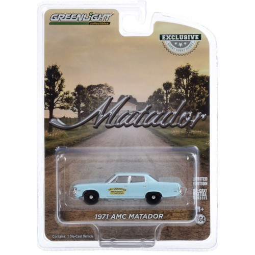 Greenlight Hobby Exclusive - 1971 AMC Matador Tri-Counties Bonding Company