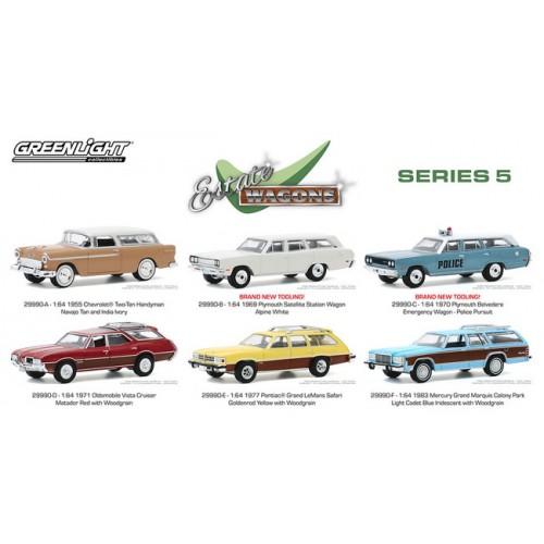 Greenlight Estate Wagons Series 5 - Six Car Set