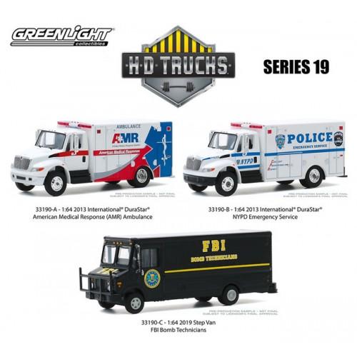 Greenlight H.D. Trucks Series 19 - Three Truck Set