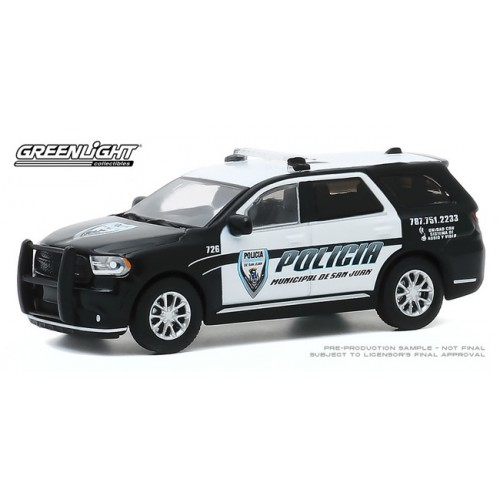 Greenlight Hobby Exclusive - 2018 Dodge Durango Polica Puerto Rico