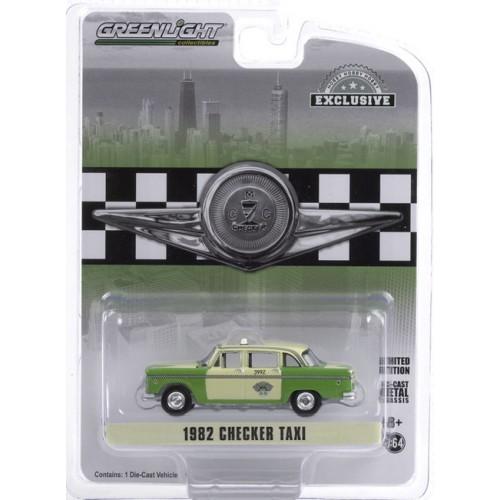 Greenlight Hobby Exclusive - 1982 Checker Motors Marathon A11 Chicago Checker Taxi