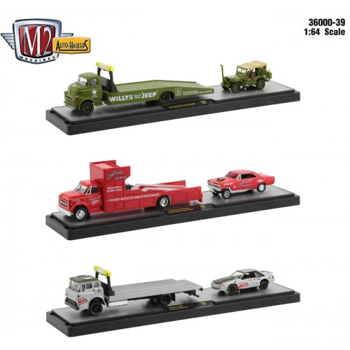 M2 Machines Auto-Haulers Release 39 - Three Truck Set