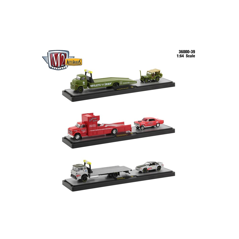 M2 Machines Auto-Haulers Release 39 - Three Truck Set