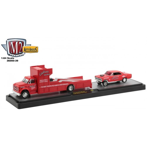 M2 Machines Auto-Haulers Release 39 - 1967 Chevrolet C60 with 1967 Chevy Nova Gasser
