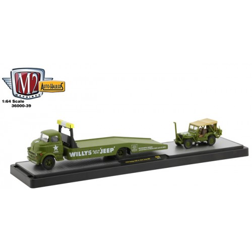 M2 Machines Auto-Haulers Release 39 - 1958 Dodge COE Truck with 1944 Jeep MB