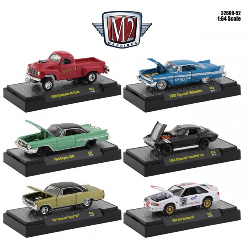 M2 Machines Auto-Meets Release 52 - Six Car Set