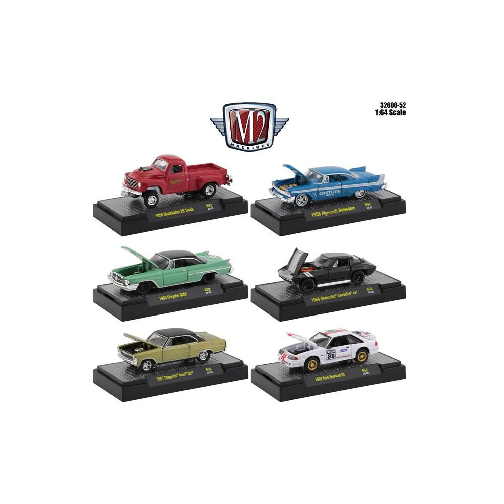 M2 Machines Auto-Meets Release 52 - Six Car Set