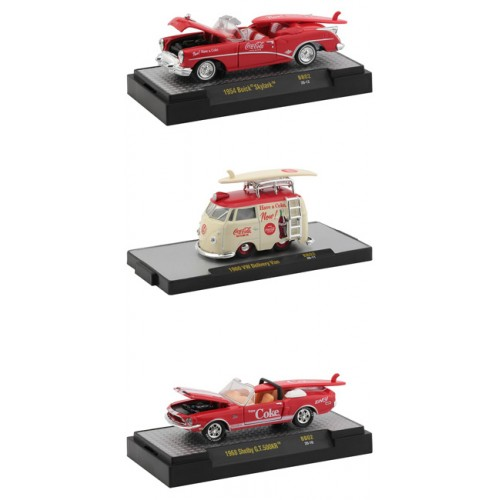 M2 Machines Coca-Cola Release BB02 Bathing Beauties - Three Car Set