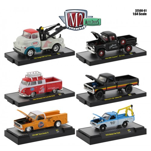 M2 Machines Auto-Trucks Release 61 - Six Truck Set